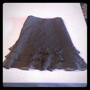 Black Mini skirt with polka dots Size 4